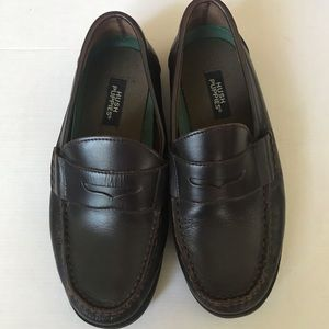 Boys brown Hush Puppy loafers sz 5.5